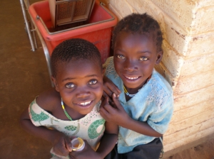 A Couple of Kids Outside the Etoto Clinic