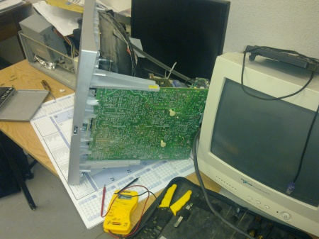CRT Opened Awaiting Repair