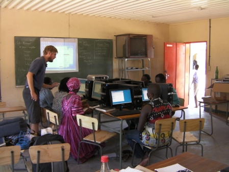 Computer Skills Training at Omufitu North Combined School Namibia
