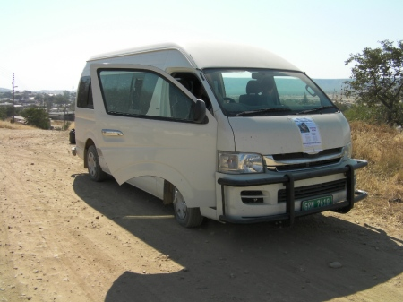 The Toyota Quantum 'Immunobus' used by Mobile Team One for Kunene Namibia National Immunisation Days 2011 Round One